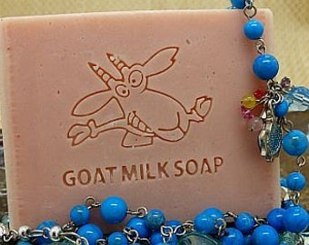 Goat milk soap stamp