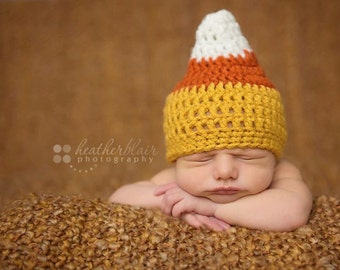 baby boy hat, baby girl hat, candy corn hat, candy corn, baby shower gift, coming home outfit, photo prop, first halloween thanksgiving