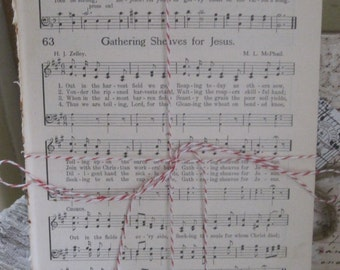 vintage hymnal sheet music bundle of 10