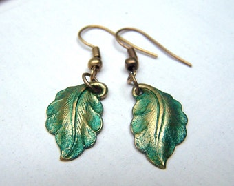 Leaf Earrings Vintage Earrings Vintage Inspired Victorian Earrings Neo Victorian Jewelry Estate Style
