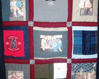 Small Memorial Clothing Quilt
