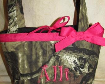 Camo purse mossy oak infinity camo camouflage purse - handbag - small tote  you choose name
