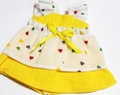 Yellow Layered Lotus Leaf Sleeve Dress for BJD Dolls Lati Yellow, PukiFee, Dollk C00074A