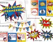 Superhero PRINTABLE Party Pack