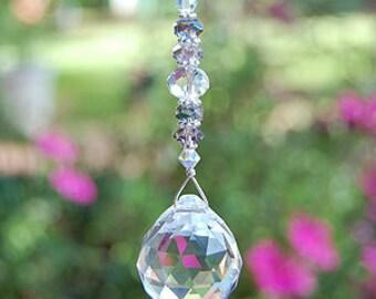 Prism Crystal Suncatcher, Rearview Car Charm, Light Pull, Fan Pull, Hanging Window Crystal, Rainbow Maker, Rainbow Crystal