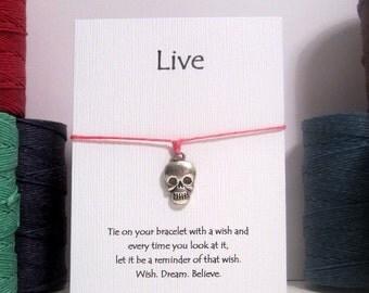 Live Skull Wish Bracelets