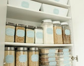 48 Printable Pantry Labels: Stella Vintage Blue Collection