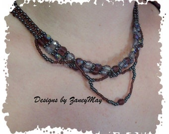 Moon River Necklace Pattern, Beading Tutorial in PDF