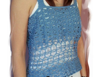Summer Shells Crochet Top, Pattern in PDF