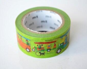 Limited Edition mt Japanese Washi Masking Tape - Tuk Tuk