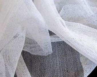 IVORY Silk Tulle 1/2 yards