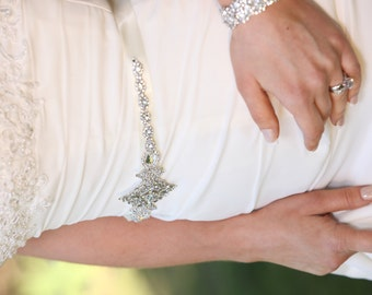 Lola Bridal Gown  Dress Sash Jeweled Crystal Belt