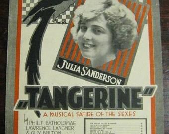 "Sheet Music - ""Tangerine"""