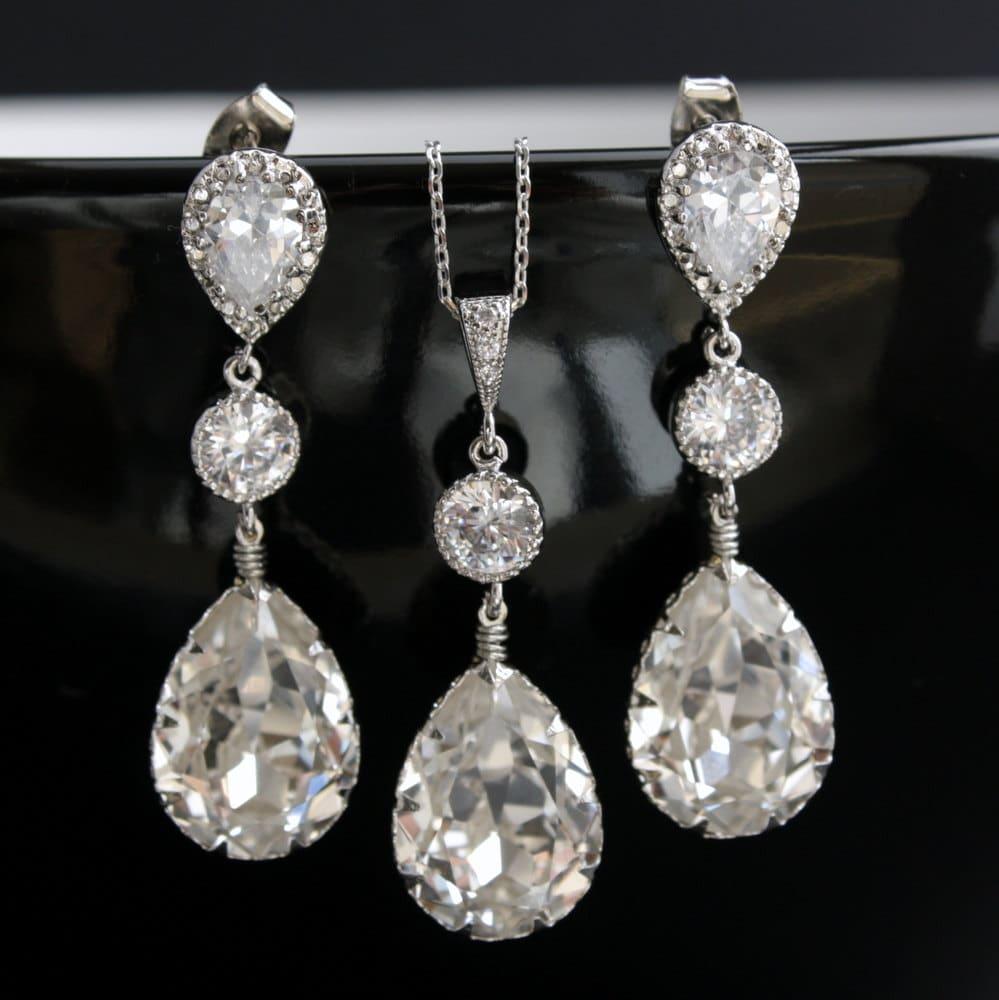 Wedding Jewelry Bridal Jewelry Set with Swarovski Crystal