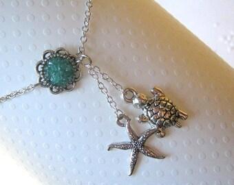 Starfish Ankle Bracelet, Starfish Anklet, Turtle Anklet, Turtle Ankle Bracelet, Choose Your Color