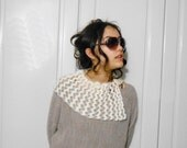 SALE 40% OFF-  Crochet ivory cream Victorian Capelet Shrug scalloped Wrap