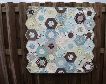 Quilts for Sale / Boy Quilts / Baby Quilts / Blue Brown Quilts / Crib Bedding  / Baby Shower / Nursery / Toddlers / Kids / Made to Order