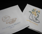 Dish Towel Hand Embroidered Flour Sack