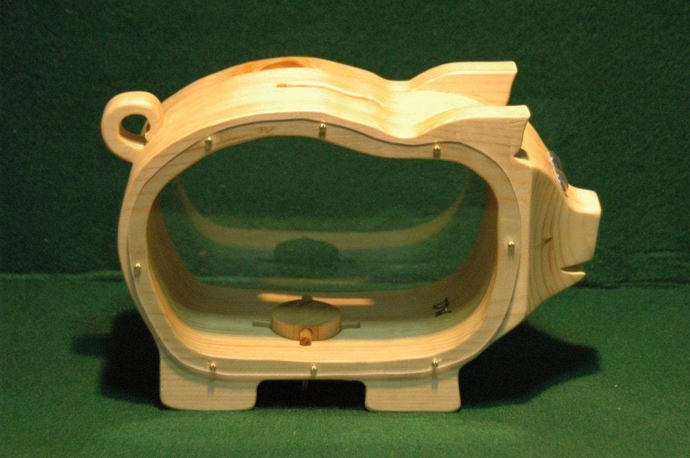 Wooden piggy bank for Handmade coin bank