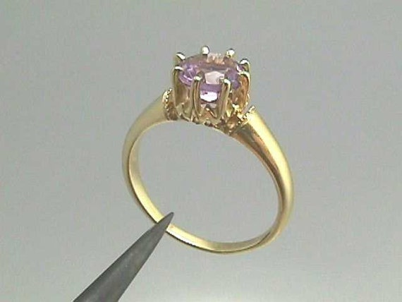 18k yellow gold crown ring antique engagement