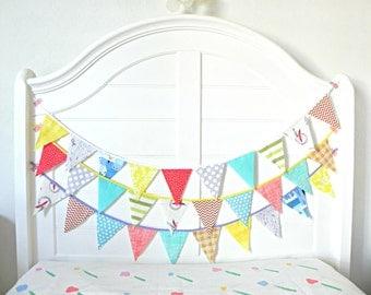 Boy Birthday Banner / Bunting Garland / Boy Birthday Decorations / Boy Nursery Decor / Baby Boy Nursery / Nursery Garland / Garland Backdrop