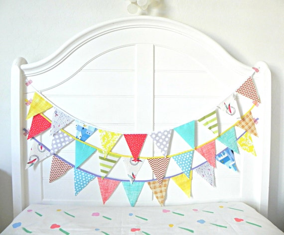 Little boy western fabric bunting pennant garland by for Little boy fabric