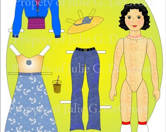 Hitty Rose Paperdoll Set Paper Dolls to Collect and Play