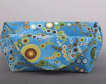 eyeglass case in Amelia Caruso Effervescence- Blue- Made to order