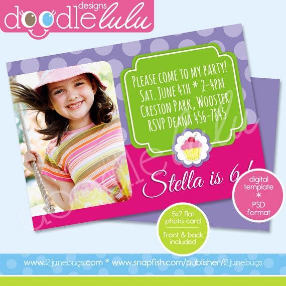 40th Birthday Ideas Birthday Invitation Card Template Photoshop