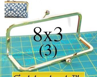 3 Goldenlock(TM) 8x3 purse frame