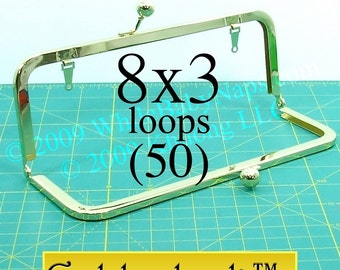 34% OFF 50 Goldenlock(TM) 8x3 purse frame with LOOPS