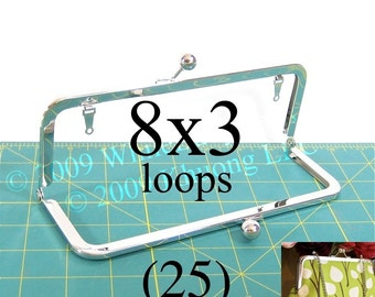 22% OFF 25 nickel-free 8x3 purse frame kisslock with loops
