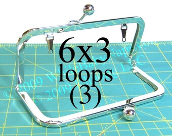 9% OFF 3 Nickel-free 6x3 purse frame(TM) with LOOPS