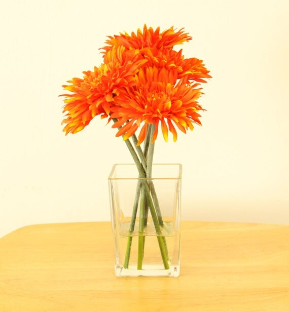 Bright orange silk floral centerpiece silk floral centerpiece
