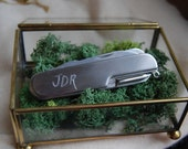 Customized Swiss Army Style Pocketknife....Hand Engraved Stainless Steel Pocketknife with Personalized Touch,