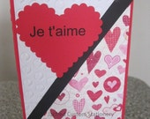 French Valentine Je t'aime and Joyeux Saint-Valentin (please specify which one you want)