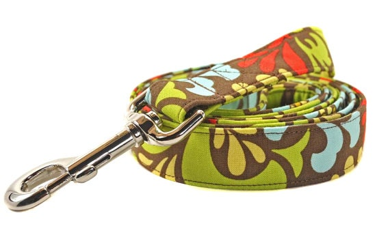 Custom Leashes to Match Your Collar - Your Choice of Fabric and Size