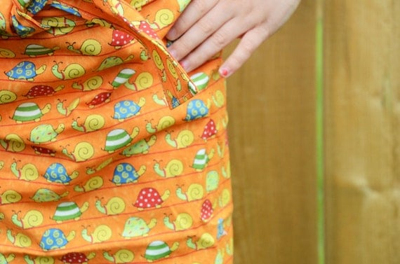 Kids Apron - Snails and Turtles