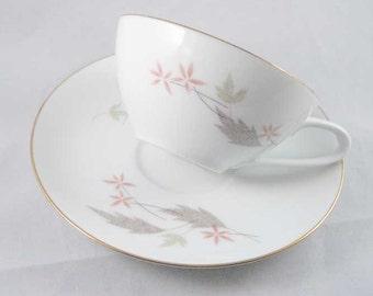 Vintage Noritake Nippon Tea Cups/Saucers Circa 1955(10 pcs)