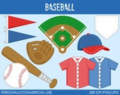 Baseball Clipart - Digital Clip Art Graphics for Personal or Commercial Use