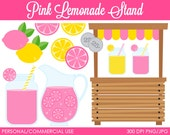 Pink Lemonade Stand Clipart - Digital Clip Art Graphics for Personal or Commercial Use