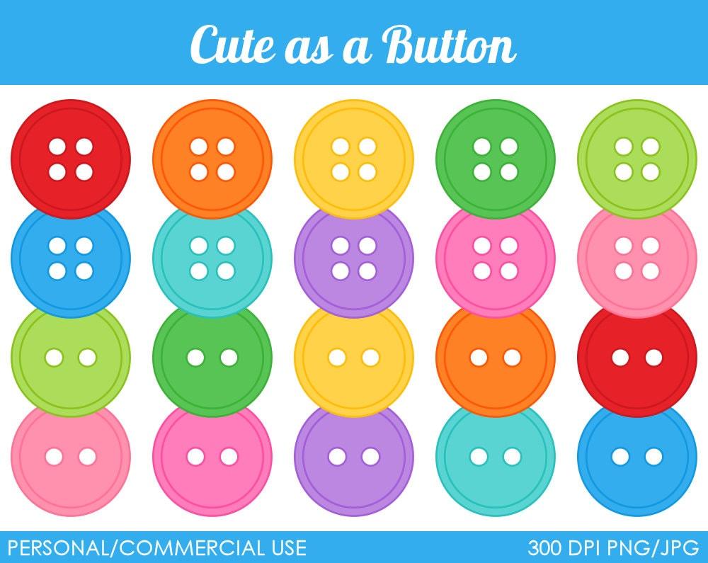Cute as a Button Clipart Digital Clip Art by MareeTruelove: https://www.etsy.com/listing/72684305/cute-as-a-button-clipart...