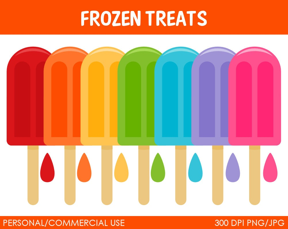 frozen treats clipart digital clip art graphics by