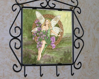 Celtic Heather Fairy Key or Jewelry Rack