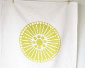 Tea Towel, Medallion Circles, in Yellow