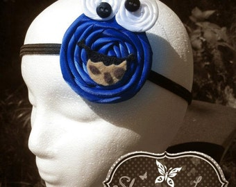 Cookie Monster inspired Rosette headband