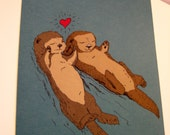 Otterly in Love 5x7  Otter Card