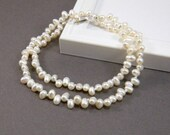 Pearl Wedding Necklace White Pearl Necklace Bridal Necklace Bridesmaid Mother of the Bride Mother's Day Gift