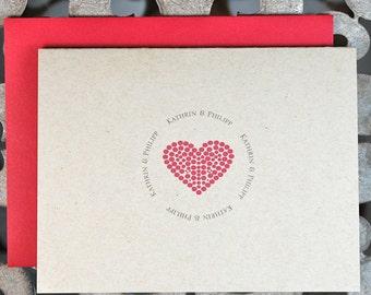 Heart,  Wedding, Thank You Cards, Rustic Wedding, Heart Wedding Thank You Cards, Hearts, Bridal Shower, Thank You Notes, Thank You Cards