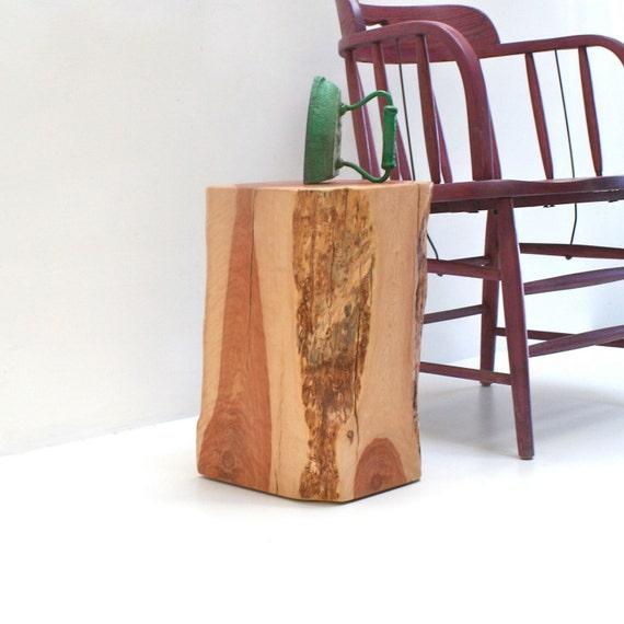 tree stump end table squared redhead. Black Bedroom Furniture Sets. Home Design Ideas